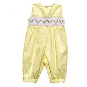 Yellow Smocked Romper