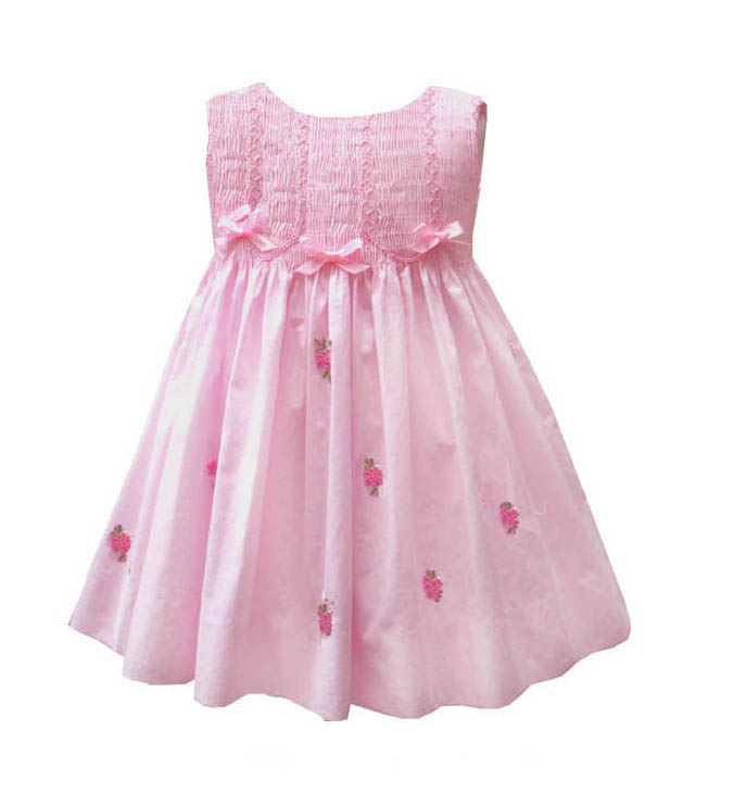 Bows & Flowers Pink Dress