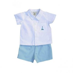 Boys Sailboat Short Set