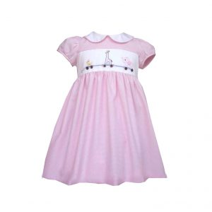 Girls Animal Gingham Dress