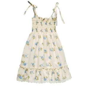 Blue English Rose Sundress