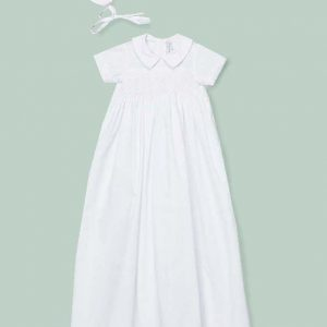 Hand Smocked Boy Christening Gown