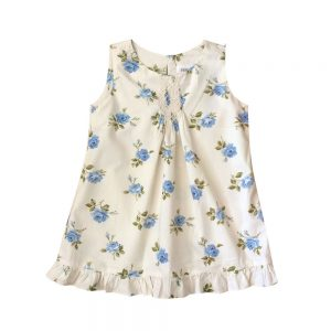 Smocked Blue English Rose Dress