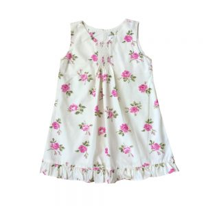 Smocked Pink English Rose Dress