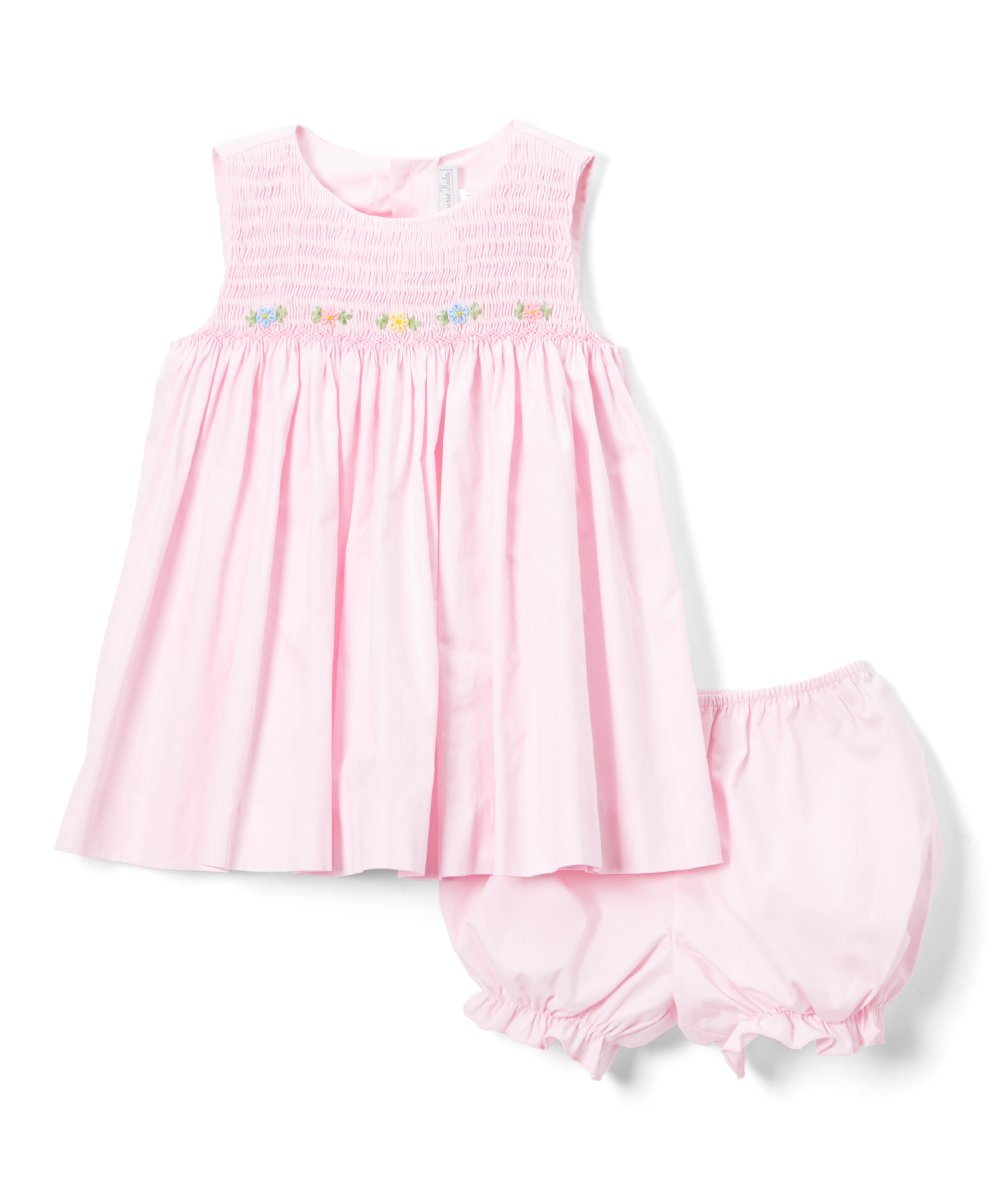 Pink Smocked Dress & Bloomers