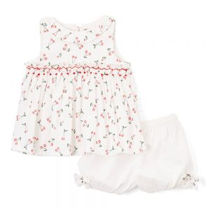 Smocked Cherry Swing Top & Bloomers