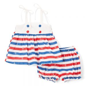 Red & Blue Anchor Swing Top & Bloomers