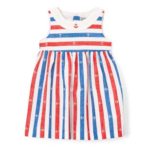 Red & Blue Anchor Dress