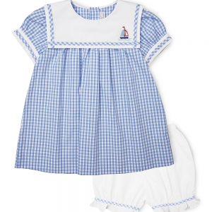Blue Sailing Boat  Sailor  Dress