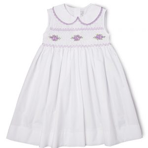 Smocked Lavender Flower Dress