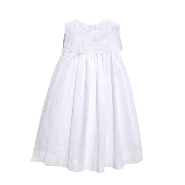 Smocked Cotton Lawn First Communion Dress