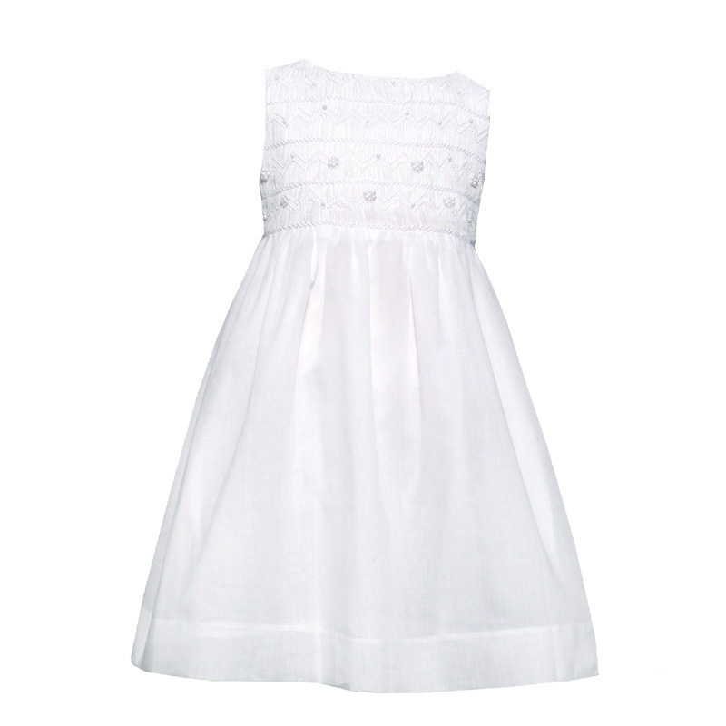 Smocked Pearl Cotton Dress