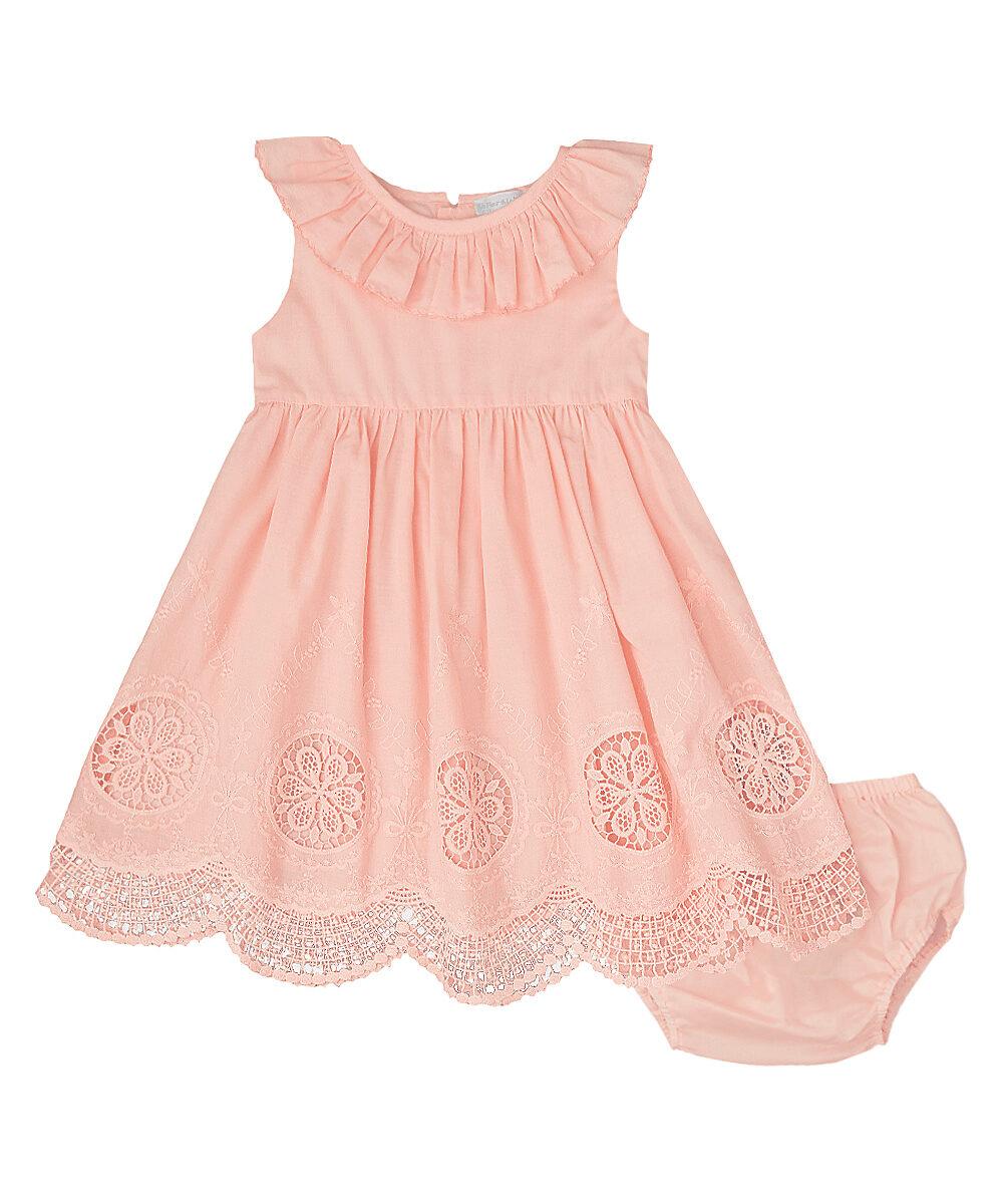Orange Crochet Lace Dress