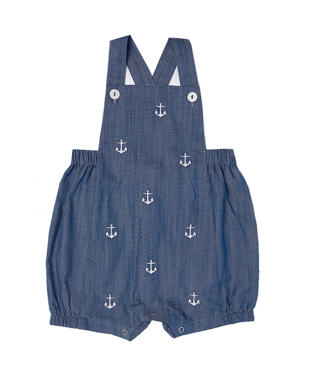 Anchor Embroidered Boy Overalls