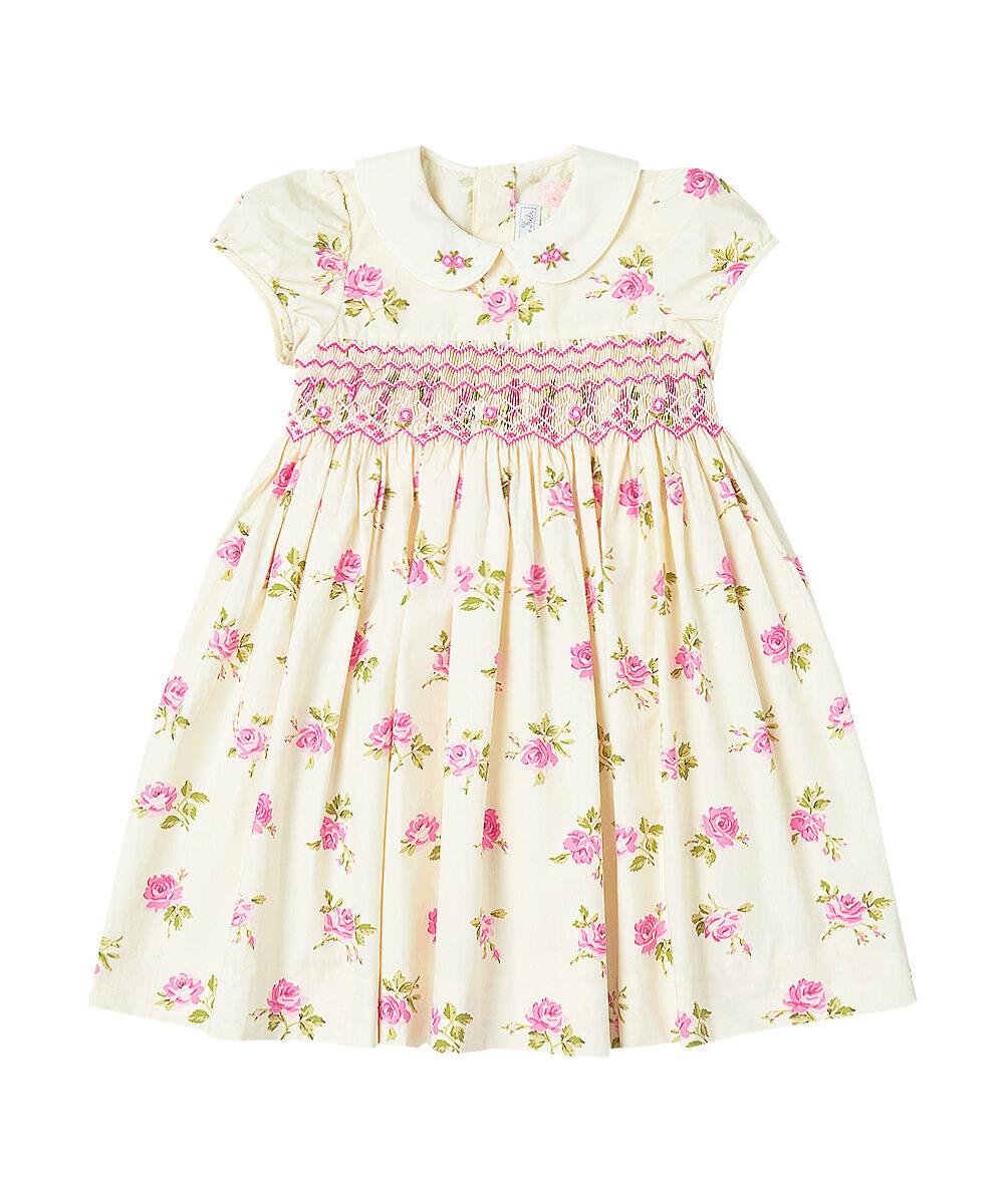 Pink English Rose Smocked Dress