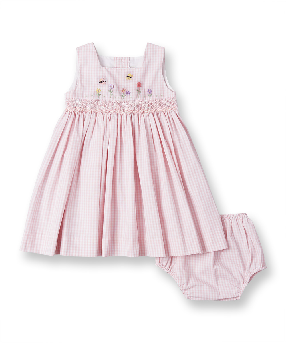 dd4775fc6081 Smocked   Embroidered Pink Dress   Bloomers – Fantaisiekids