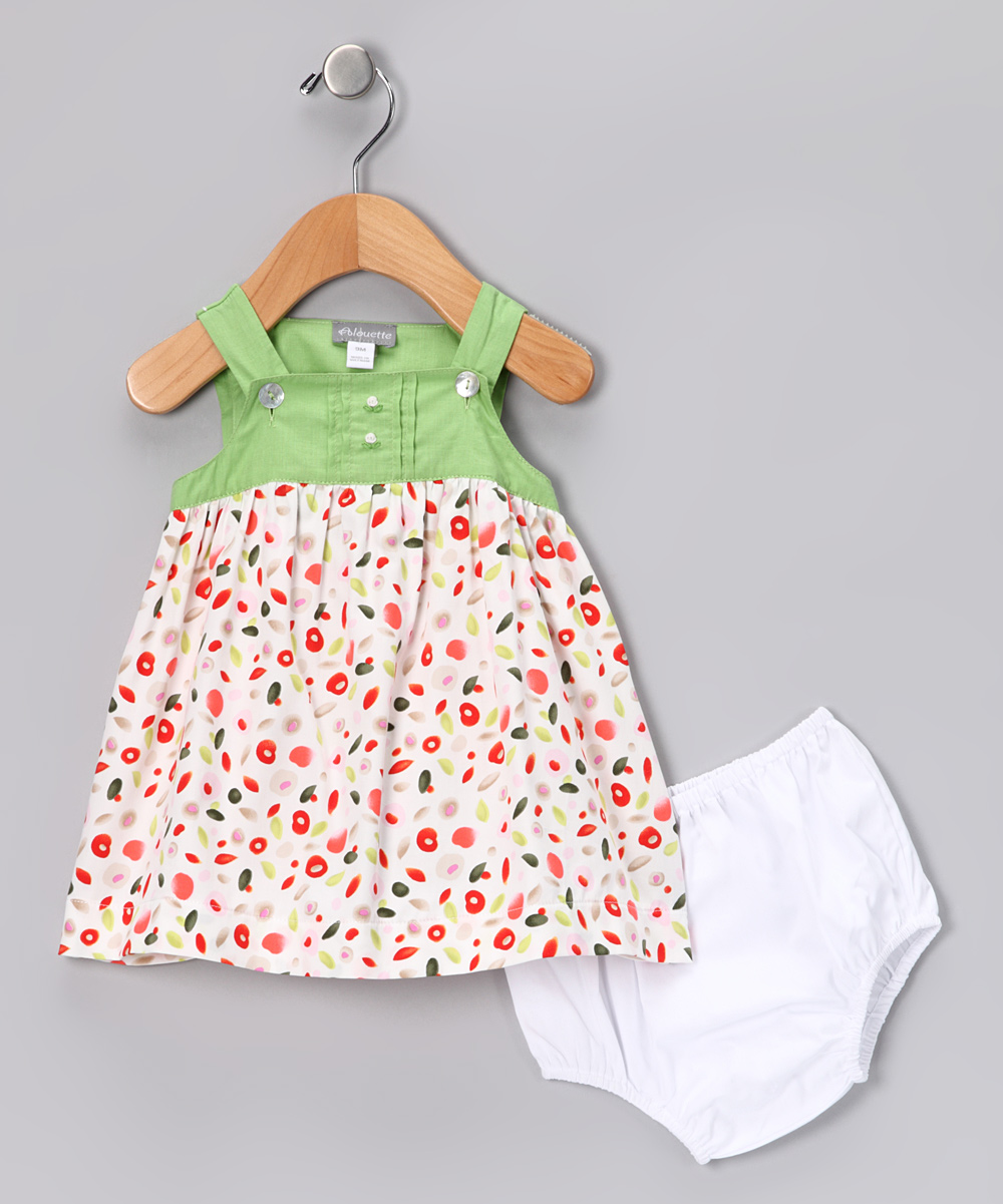 Lime Dame Dress & Diaper Cover