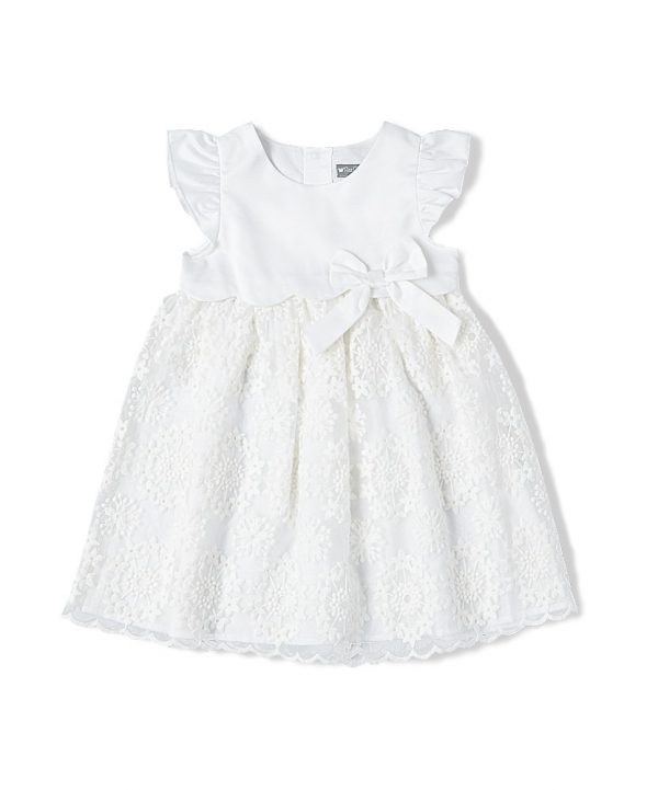 Ivory embroidered lace special occasion dress by Fantaisie Kids