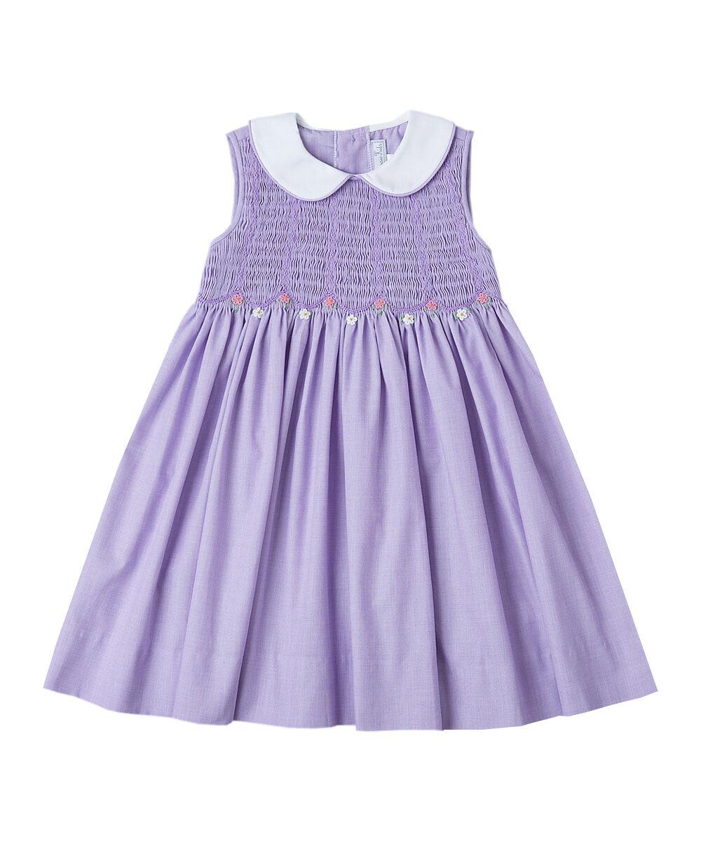 Lavender Smocked A-Line Dress