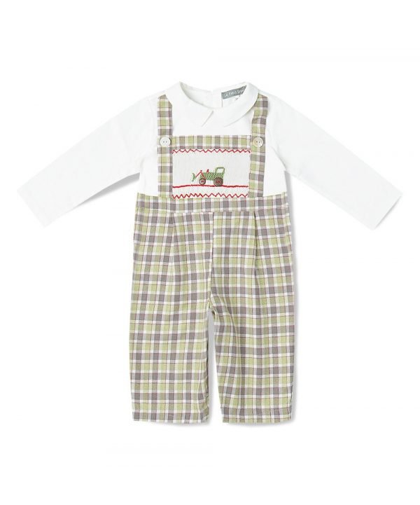Smocked 1PC Overalls & Shirtby Fantaisie Kids