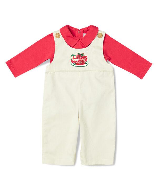 Sleigh Applique Jon Jons & Shirt by Fantaisie Kids