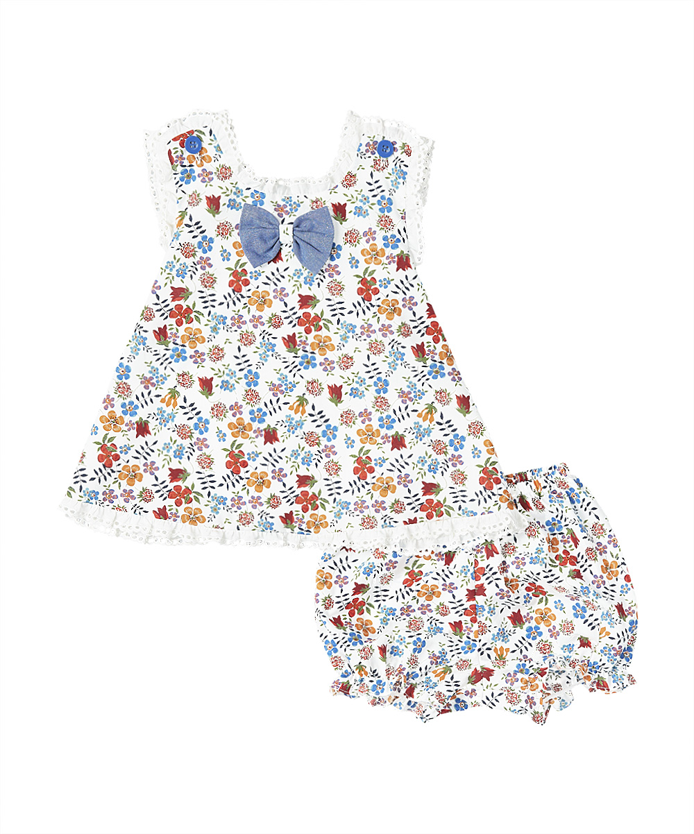 Blue & Red Floral  Swing Top and Bloomers