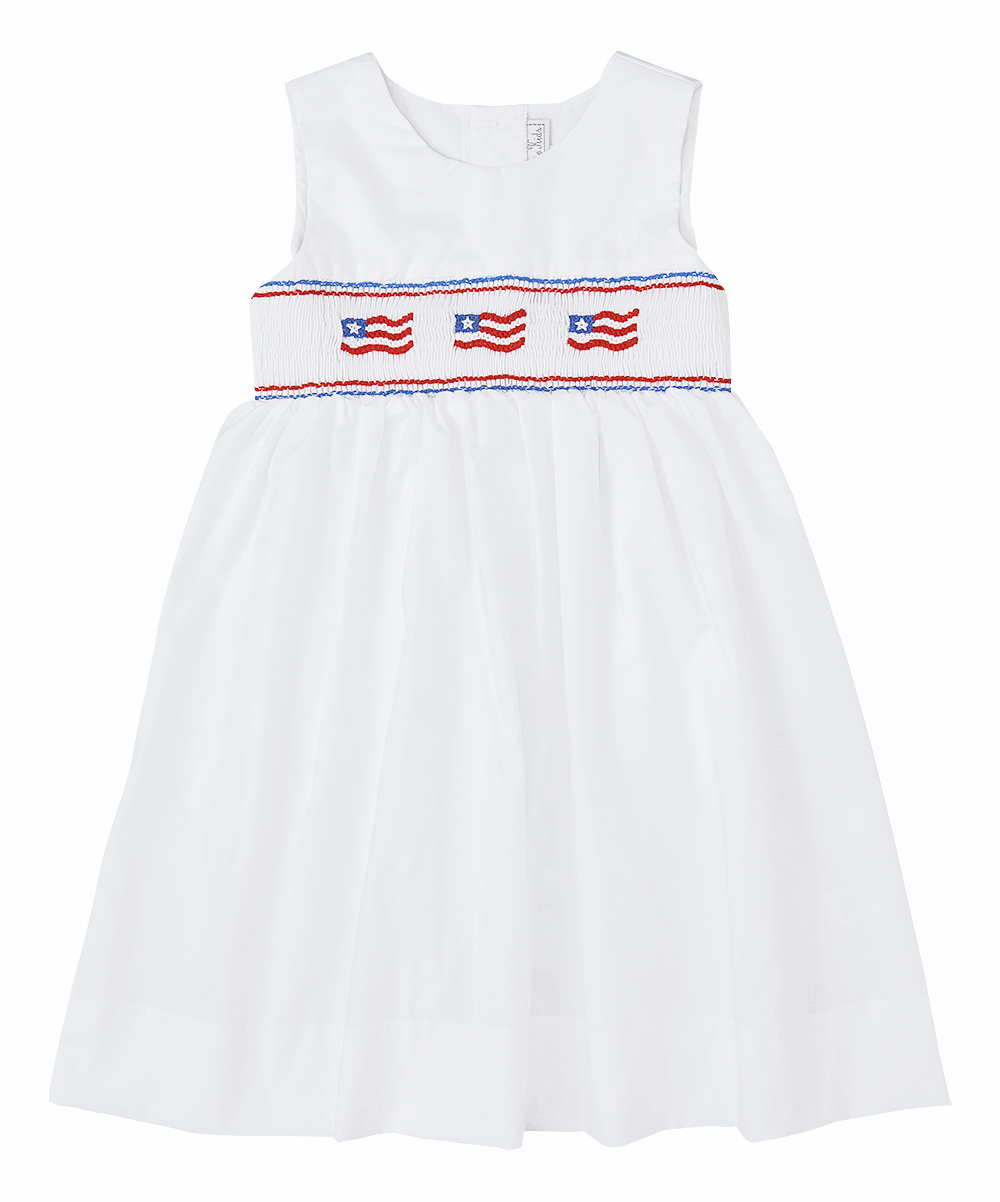Smocked American Flag Dress