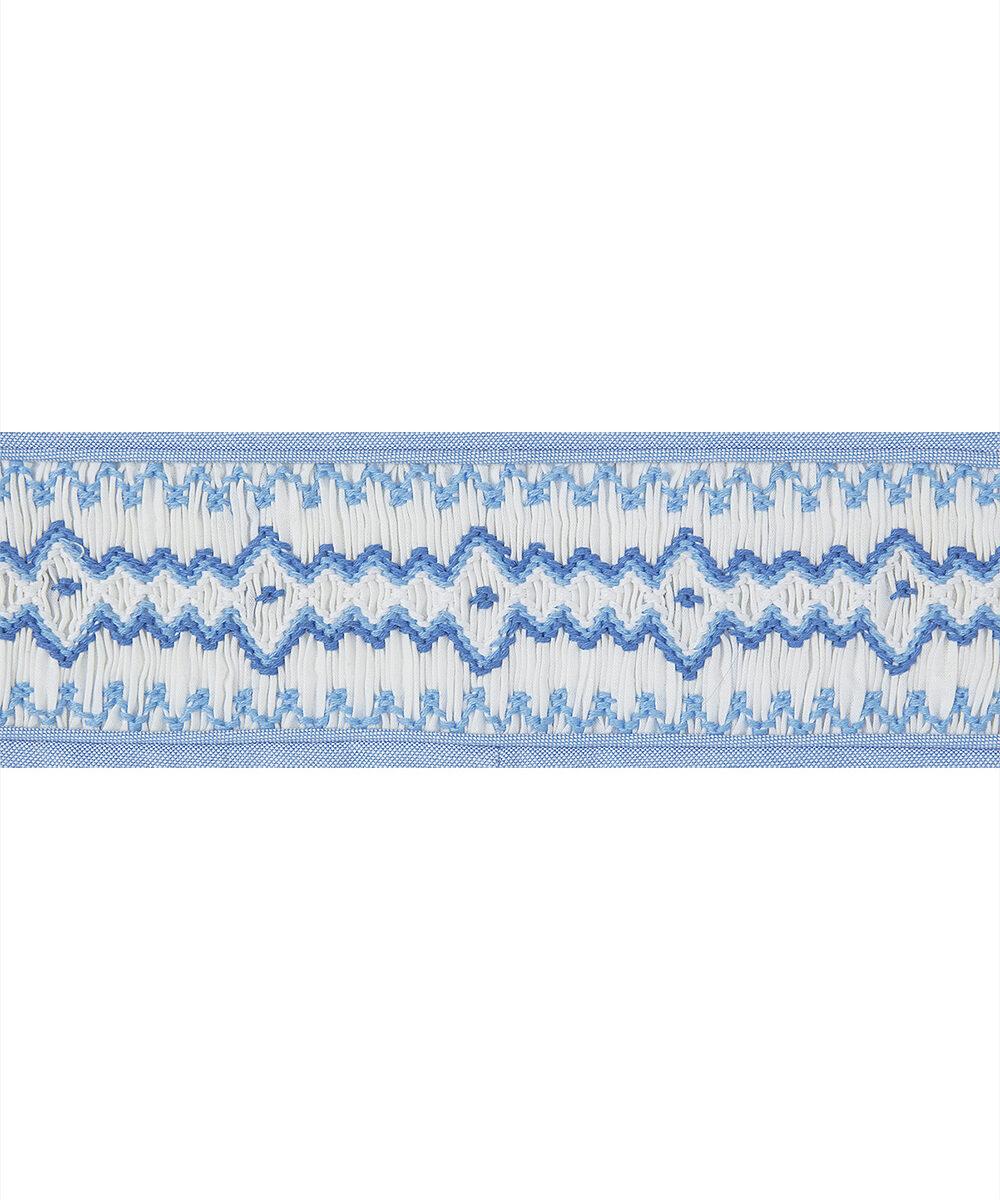 Smocked Blue & White Blue John Johns