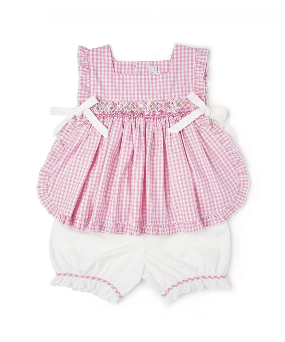 Pink Smocked Jumper & White Bloomers