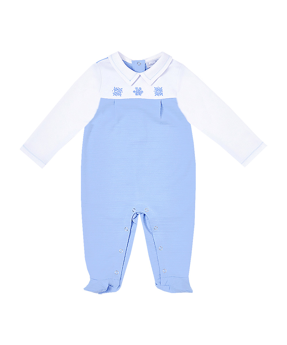 Snow Flake Embroidery Footies