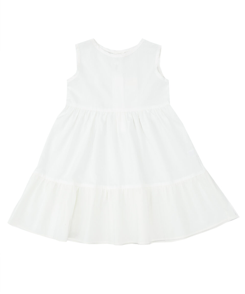 White Cotton Slip with Tulle Layers