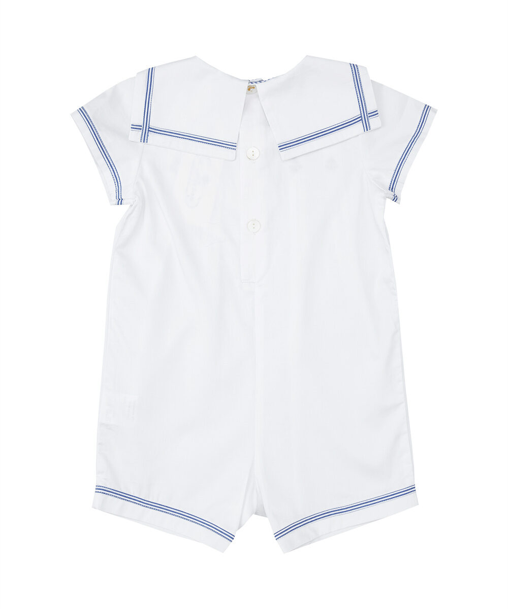Anchor Embroidered Sailor Romper