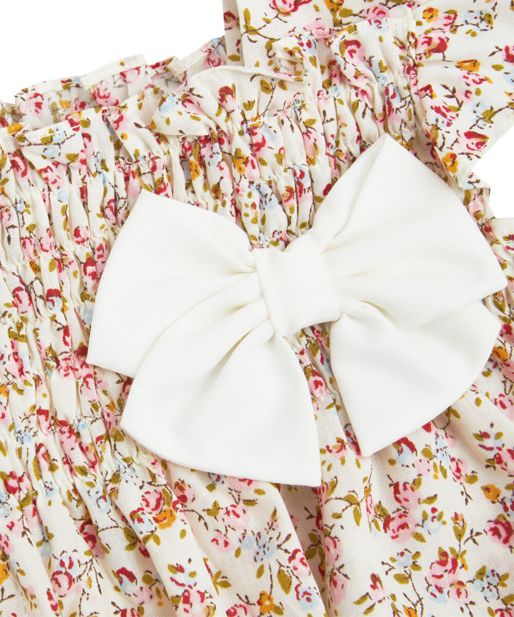 Floral Angel Sleeve Bow Tie Bubble