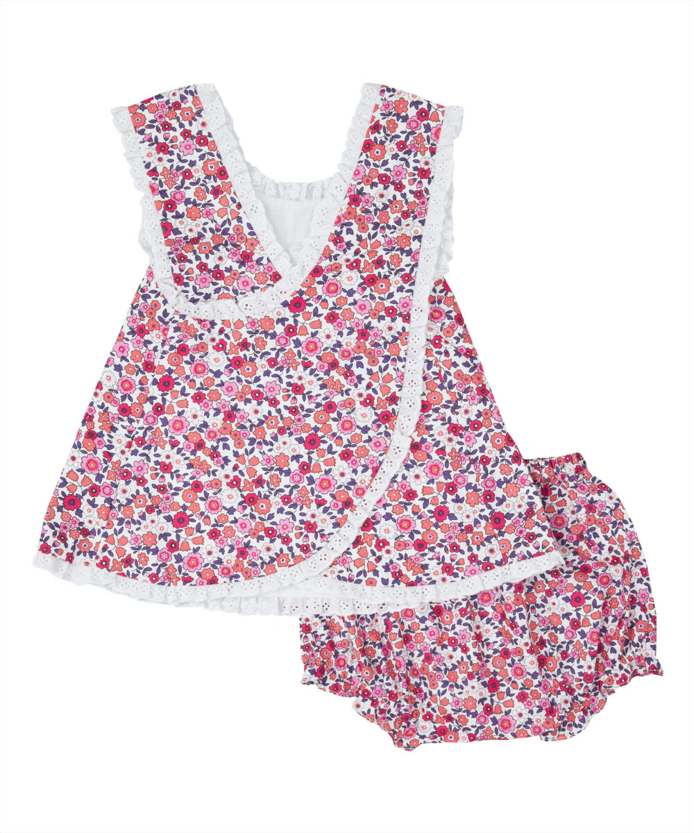 Red Floral Crisscross Top & Bloomers