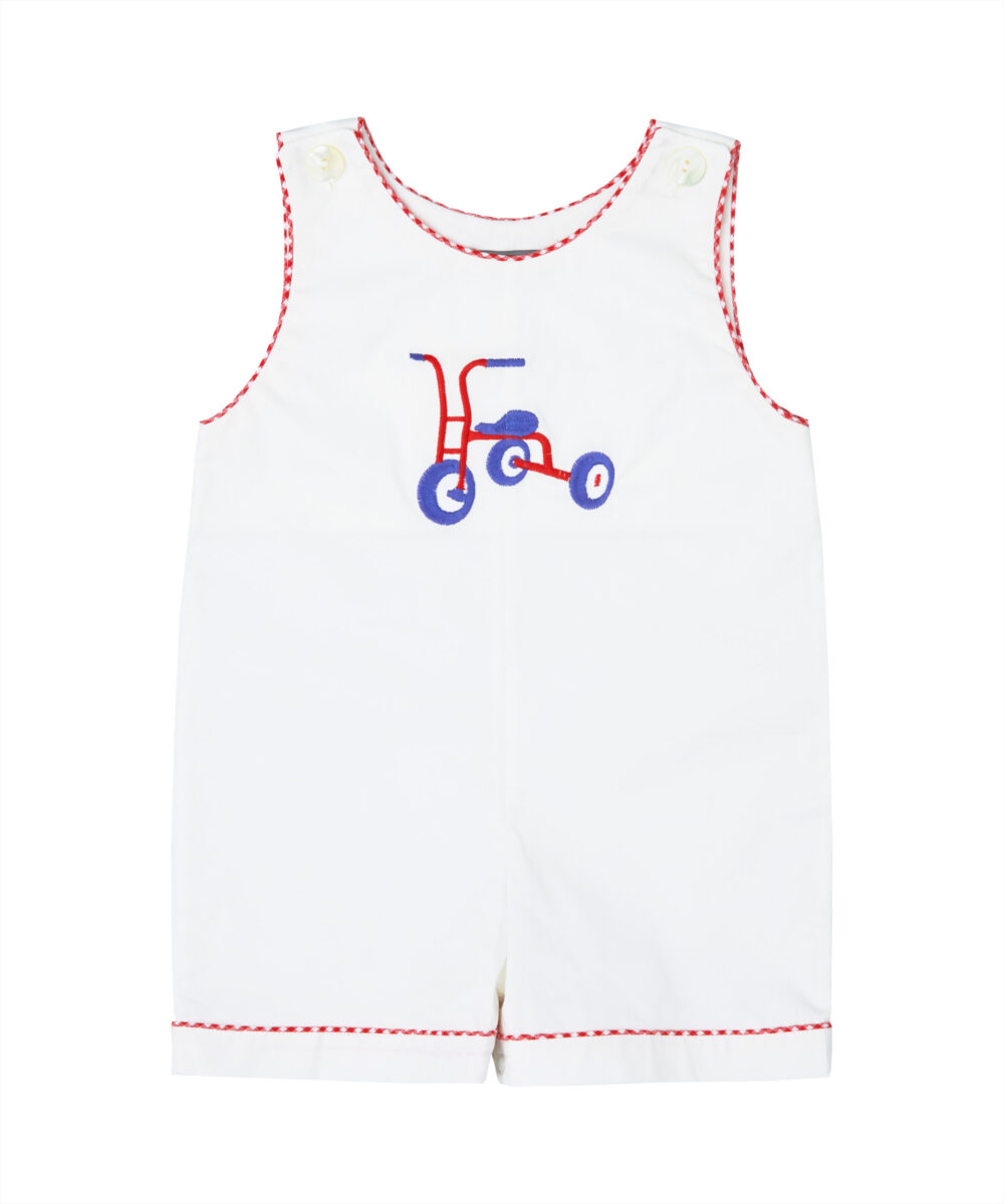 Off White Embroidered Tricycle Jon Jons