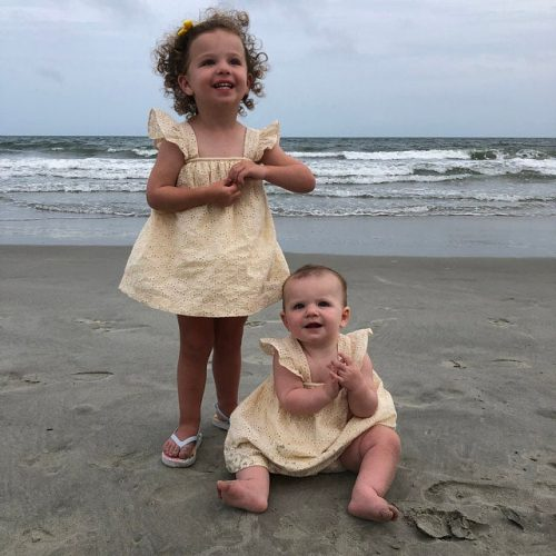 Ruffle Sleeve Yellow Eyelet Dress & Bloomers photo review
